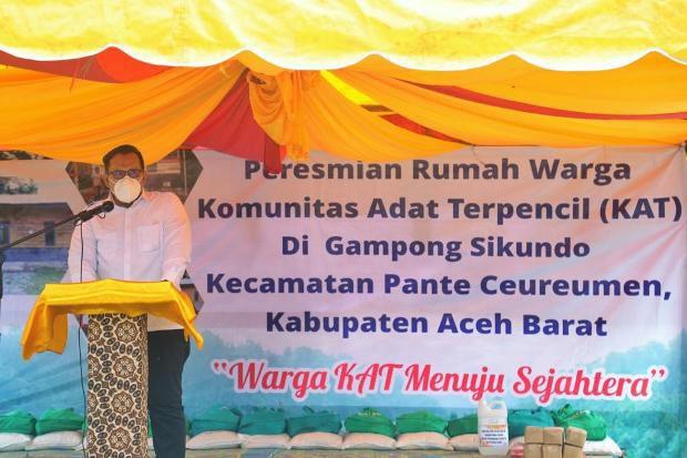 Pemerintah Aceh Percepat Pembangunan Gampong Sikundo