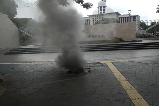 Polisi Sebut Asap di Gorong-gorong Masjid Istiqlal Akibat Kabel PLN Terbakar
