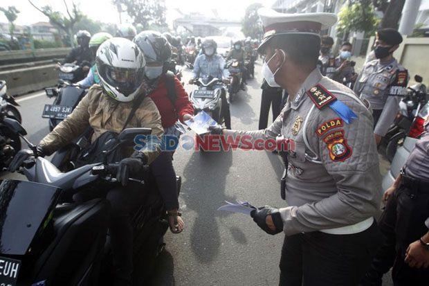 Operasi Zebra di Jakarta Barat, Pelanggaran Melawan Arus Masih Mendominasi