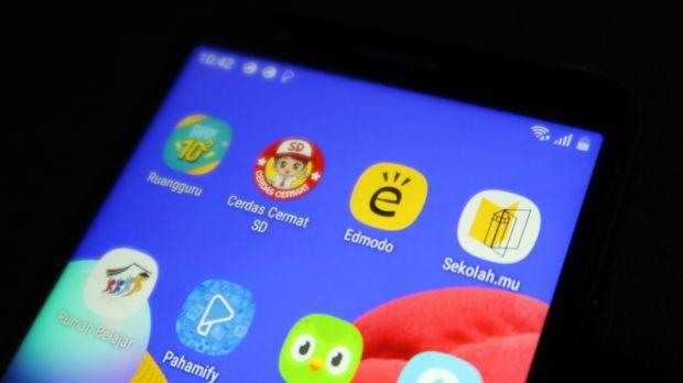 Mencoba Aplikasi Belajar Online dengan Ponsel Rp1 Jutaan Galaxy A01 Core