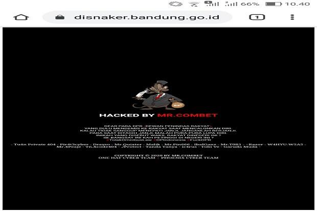 Hacker Retas Situs Disnaker, Kirim Pesan Tolak UU Omnibus Law