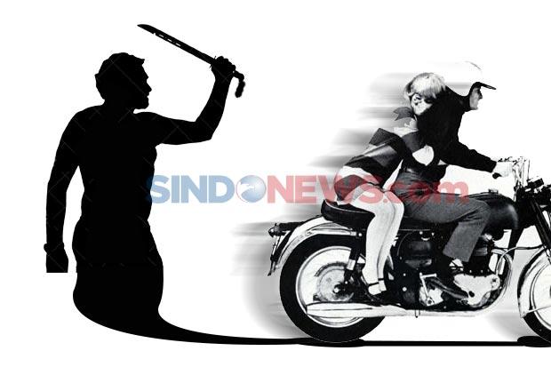 Saat Berbocengan Sepeda Motor, Sepasang Kekasih Dibegal Pakai Senpi