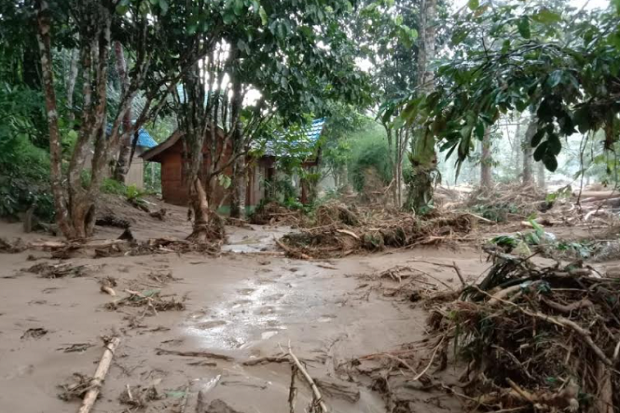 Banjir Bandang Sapu Lokasi Wisata Landak River Bahorok