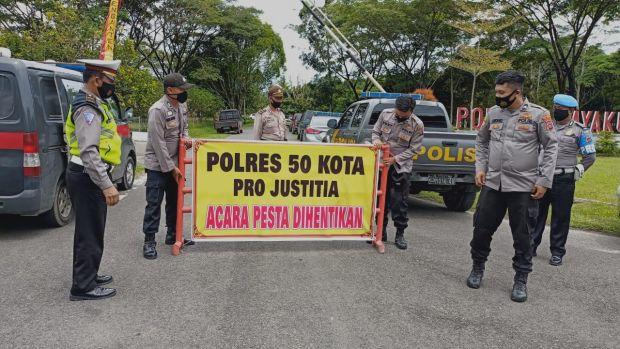 Timbulkan Kerumunan, Pernikahan Anak Pejabat BPBD Dibubarkan Polisi
