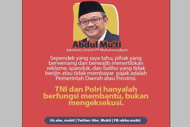 Muhammadiyah Sebut Penertiban Baliho Wewenang Pemda