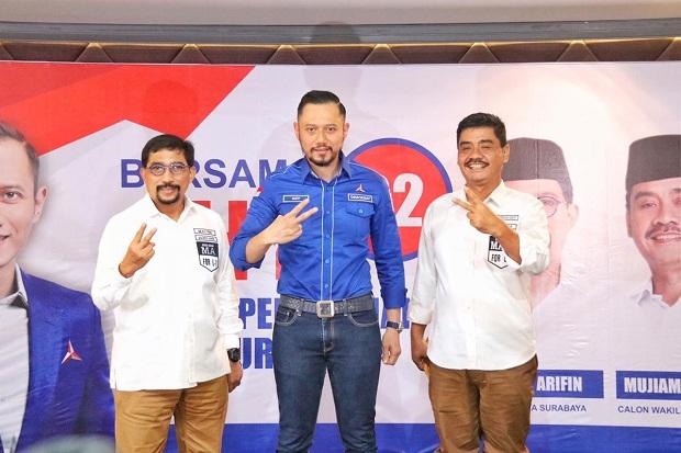Dukung Machfud Arifin, AHY: Beliau Bisa Majukan Surabaya jadi Kota Bertaraf Internasional