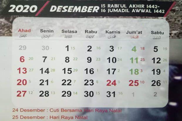 Jadwal Puasa Sunnah Bulan Desember 2020