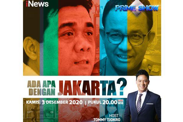 Prime Show iNews Kamis Pukul 20.00: Covid-19 Melonjak di Ibukota, Ada Apa dengan Jakarta?