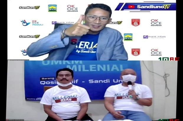 Hadir di Pilkada Gresik, Sandiaga Uno Ajak Milenial dan Pelaku UMKM Dukung Qosim-Alif