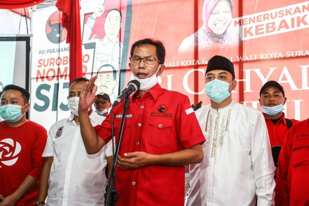 Ketua DPC PDIP Surabaya Ajak Relawan Kawal Eri-Armudji Hingga Tuntas