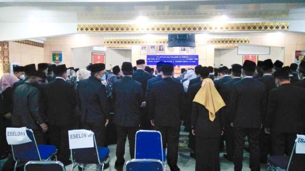 Pelantikan Pejabat di Lampung Utara Abaikan Protokol Kesehatan
