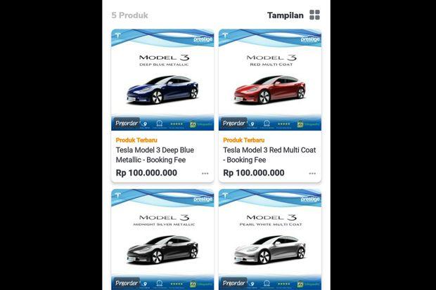 Mobil Listrik Tesla di Tokopedia Sudah Mulai Diborong Konsumen