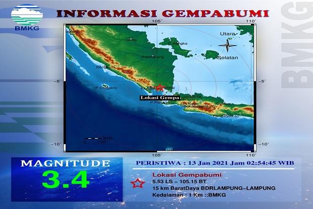 Lampung Utara Diguncang Gempa Bumi Bermagnitudo 4.1, Warga Diminta Tenang