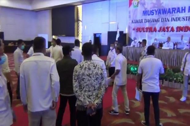 Pemilihan Ketua Kadin Sultra Ricuh, Pendukung 2 Calon Nyaris Adu Jotos