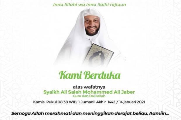 Syekh Ali Jaber Meninggal, Lantunan Doa Bergema di Twitter