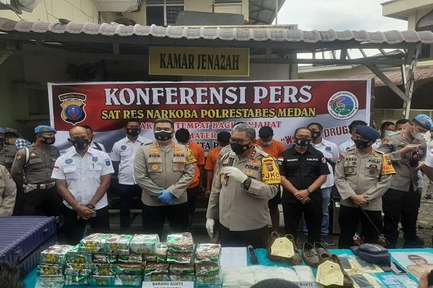 Bawa 26,9 Kg Sabu Dari Malaysia, Gembong Narkoba Asal Pasuruan Ditembak Mati di Medan