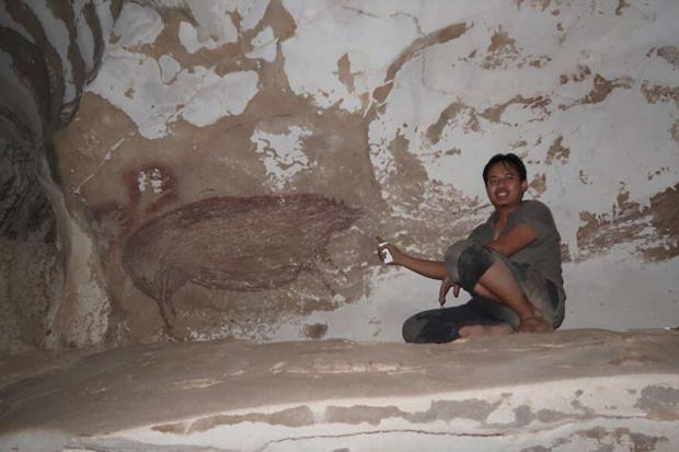 Berusia 45.500 Tahun, Lukisan Gua Tertua di Dunia Ditemukan di Sulawesi