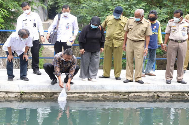 Sinergi Budidaya-Lestarikan Lingkungan, Menteri KKP Sakti Tebar Ribuan Benih Ikan di Sleman