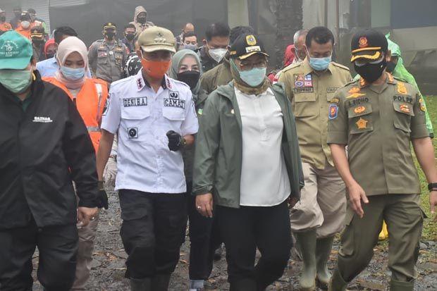 Tinjau Lokasi Banjir Bandang Gunung Mas, Bupati Bogor : Pengungsi Aman