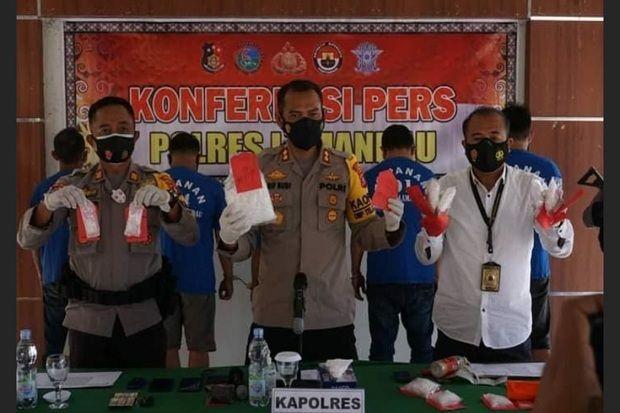 Polisi Lamandau Gagalkan Peredaran Sabu 1,7 Kg dari Kalbar