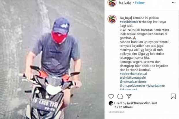 Polisi Ciduk Pria 50 Tahun Pelaku Pelecehan Seksual Terhadap Istri Isa Bajaj