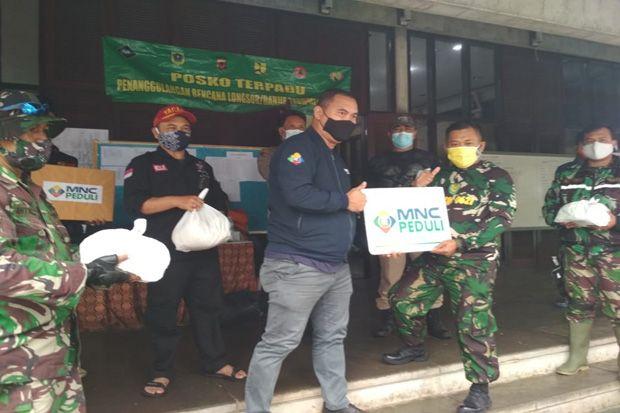 Kemensos dan MNC Peduli Salurkan Bantuan Sembako untuk Pengungsi Banjir Bandang Gunung Mas