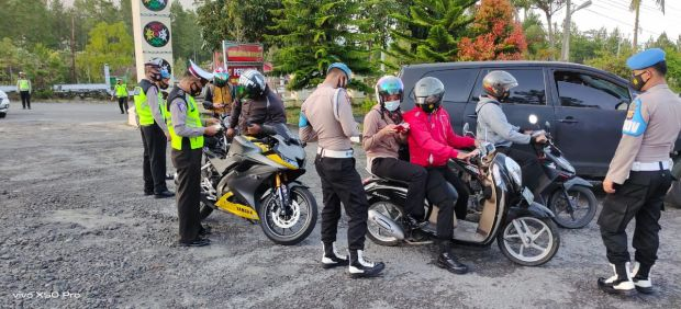 3 Anggota Polres Bener Meriah Terjaring Razia Kendaraan