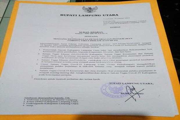 Zona Merah COVID-19, Warga Lampung Utara Tak Diizinkan Gelar Hajatan