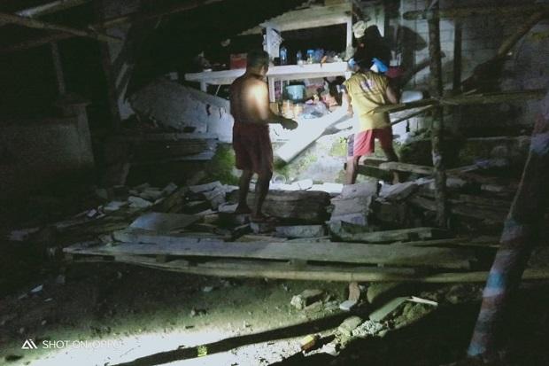 Dahsyatnya Guncangan Gempa di Sulawesi Utara, Membuat Rumah Warga Rusak