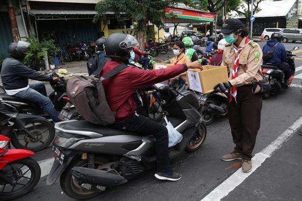 Pramuka Bergerak, Galang Donasi untuk Bantu Korban Bencana Alam