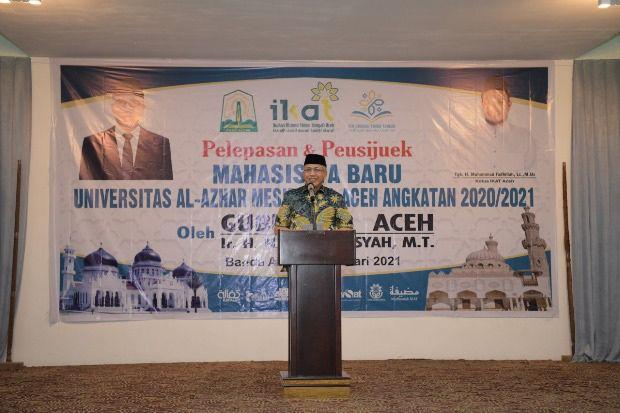 Gubernur Nova Lepas 74 Calon Mahasiswa Baru Asal Aceh Belajar ke Mesir