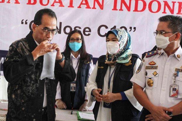 Menhub Budi Karya Launching GeNoSe C19 di Terminal Kampung Rambutan