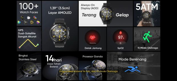 Realme Rilis Watch S Pro, Cek Spesifikasi dan Harganya