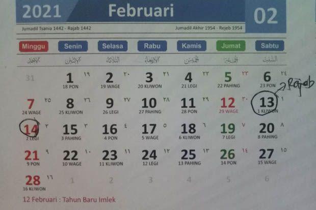 Jadwal Puasa Sunnah Februari 2021 Bertepatan Bulan Mulia Rajab
