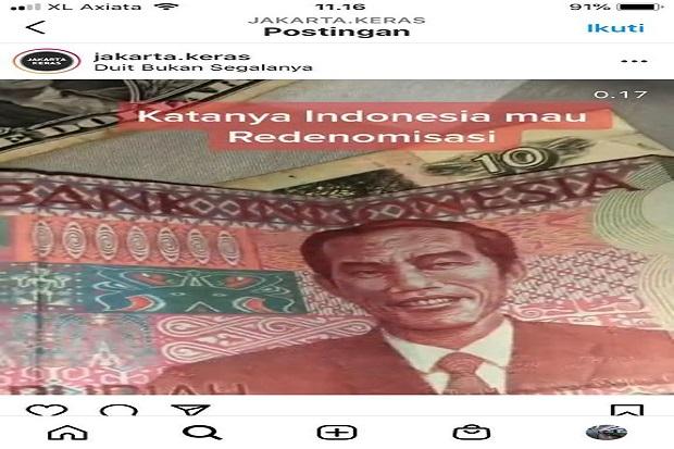 Viral Uang Redenominasi Gambar Jokowi, BI: Itu Ulah Anak Iseng