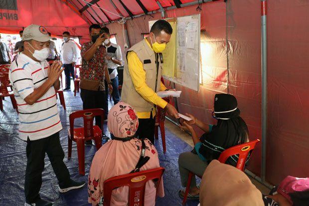 Wagub Sumut Musa Rajekshah Berikan Bantuan Korban Kebakaran di Sibolga