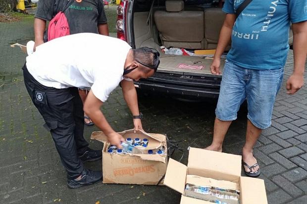 Miras Cap Tikus Tak Bertuan Disita Satreskoba Polres Kepulauan Sangihe di Pelabuhan
