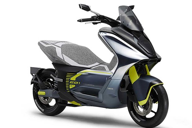Yamaha Matangkan Konsep E01 untuk Skuter Listrik Berbodi Bongsor