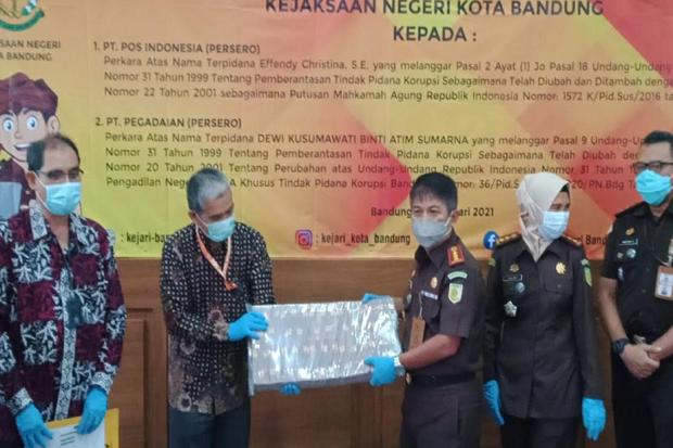 Kejari Kota Bandung Kembalikan Rp9,6 Miliar Uang Hasil Korupsi ke PT Pos dan Pegadaian