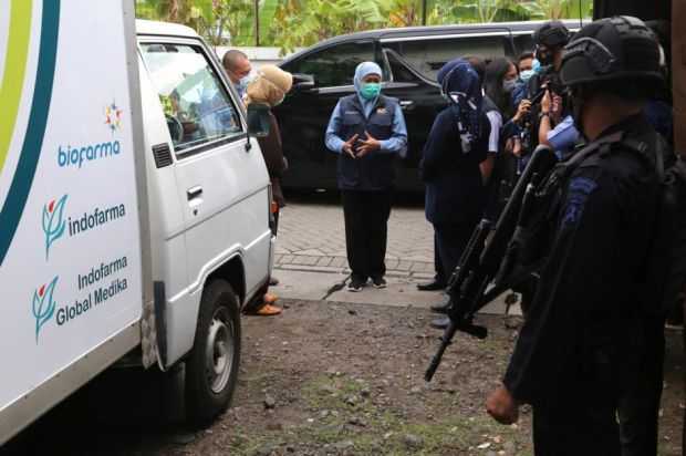 Pemprov Jawa Timur Distribusikan 914.200 Dosis Vaksin Tahap Dua