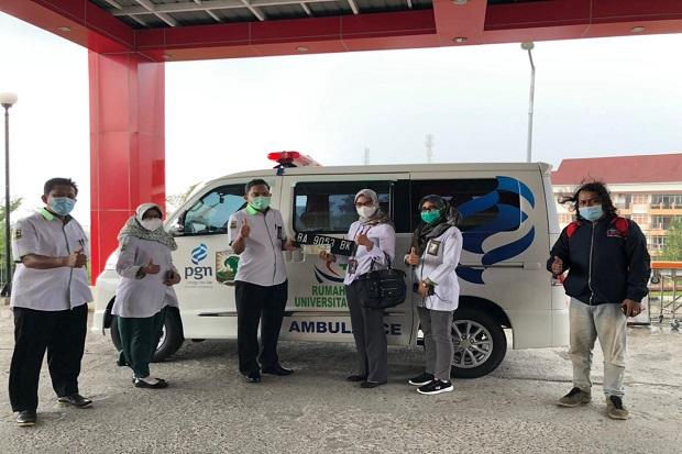 Dukung Penanganan COVID-19, PGN Bantu Ambulans ke RS Universitas Andalas