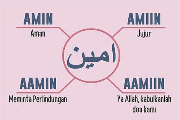 Cara Mengucapkan Amin yang Benar