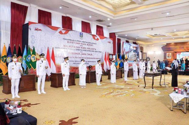 Jadual Sertijab 14 Kepala Daerah di Jatim, Surabaya Pertama