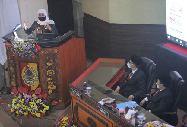 Gubernur Khofifah Minta Bupati Jember Percepat Pengesahan APBD 2021