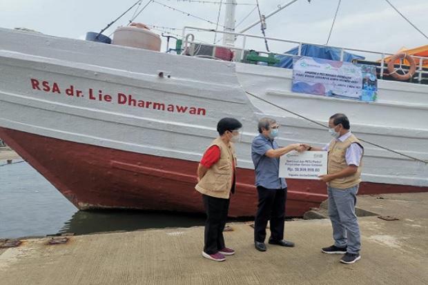 Baktimed dan Diaspora Eropa Bantu Rumah Sakit Apung Dr Lie Darmawan