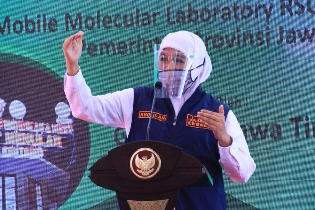 Mutasi Virus Corona B117, Gubernur Khofifah Minta Masyarakat Jatim Tenang dan Waspada