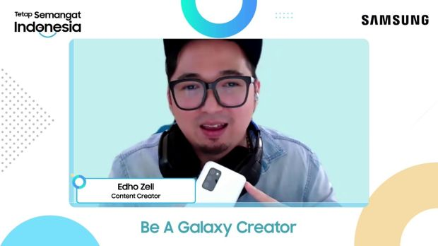 Lewat Be A Galaxy Creator, Edho Zell Bagikan 3 Tips Bikin Konten Video Awesome