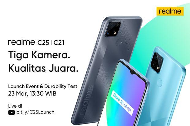 realme C25 dan C21 Datang, Pasar Ponsel Murah di Indonesia Memanas