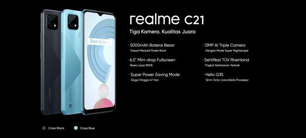 Realme C21 Resmi Masuk Indonesia, Ini Spesifikasi dan Harganya