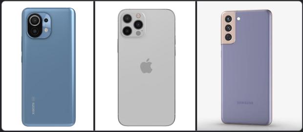 Komparasi Ponsel Flagship 2021: Xiaomi Mi 11 vs iPhone 12 Pro vs Galaxy S21+ 5G